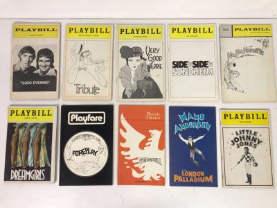 Collection Of 10 Vintage Playbill Theatre Programs