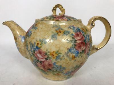 Hand Painted Signed W. Myers Porcelain Teapot 8.5W X 6D X 6H