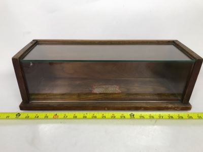 Vintage Mercantile Oak Tabletop Counter Display Case For Sealpackerchief 19W X 6.5D X 6.5H