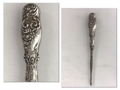 Sterling Silver Handled Sewing Tool