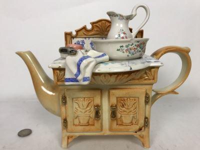 Large Paul Cardew Design Wash Basin Teapot 11W X 5D X 8H