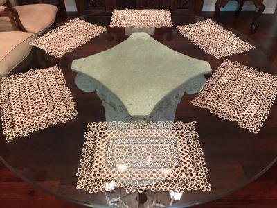 Set Of Six Crochet Placemats