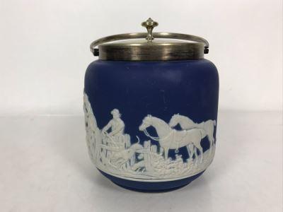 Adams Est Bd 1657 Jasperware Ice Bucket Made In England 5.5W X 9.5H