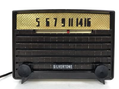 Vintage Mid-Century Silvertone Radio Serviced And Sounds Great 8.25W X 5D X 6H