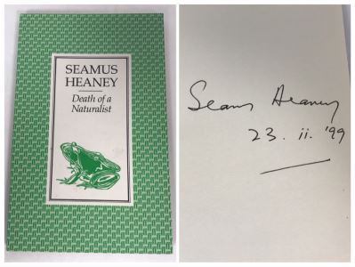 Seamus Heaney Hand Signed Book Death Of A Naturalist