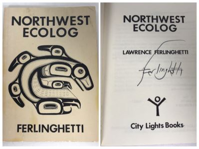 Lawrence Ferlinghetti Hand Signed Poetry Book Northwest Ecolog