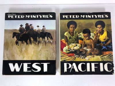 Pair Of Coffee Table Books: Peter McIntyre's West And Peter McIntyre's Pacific