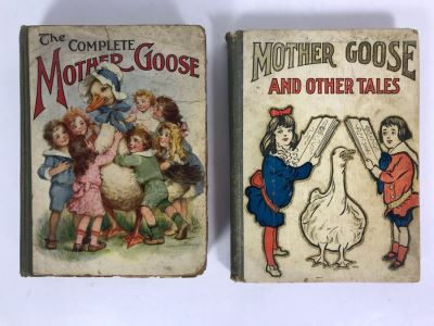 1915 The Complete Mother Goose Book And 1917 Mother Goose And Other Tales Book