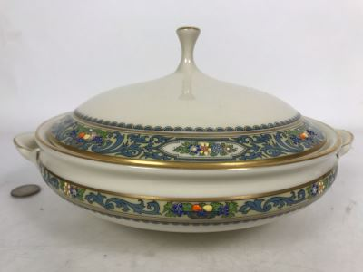 Lenox Autumn Pattern Gold Rim China Round Covered Vegetable Replacements Value $319