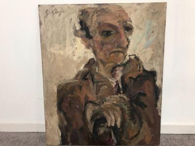 Original Jean Klafs Abstract Expressionist Painting On Board Titled 'Problem III' 20' X 24'