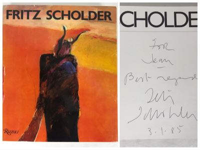 Hand Signed Fritz Scholder First Edition Artist Book Personalized To Jean Klafs 10'W X 11.5'H