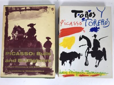 First Edition 1961 Large Coffee Table Artist Book With Sleeve - Picasso: Bulls And Bullfighters By Luis Miguel Dominguin