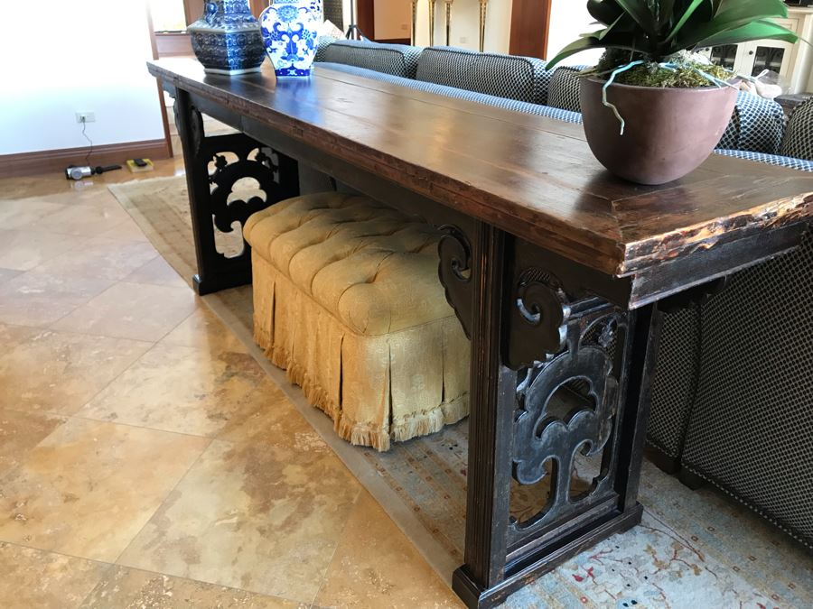 Antique Chinese Altar Table 92.5W X 20D X 34.5H (Retails $2,500) [Photo 1]