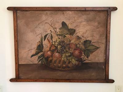Vintage Italian Still Life Painting 42W X 30H