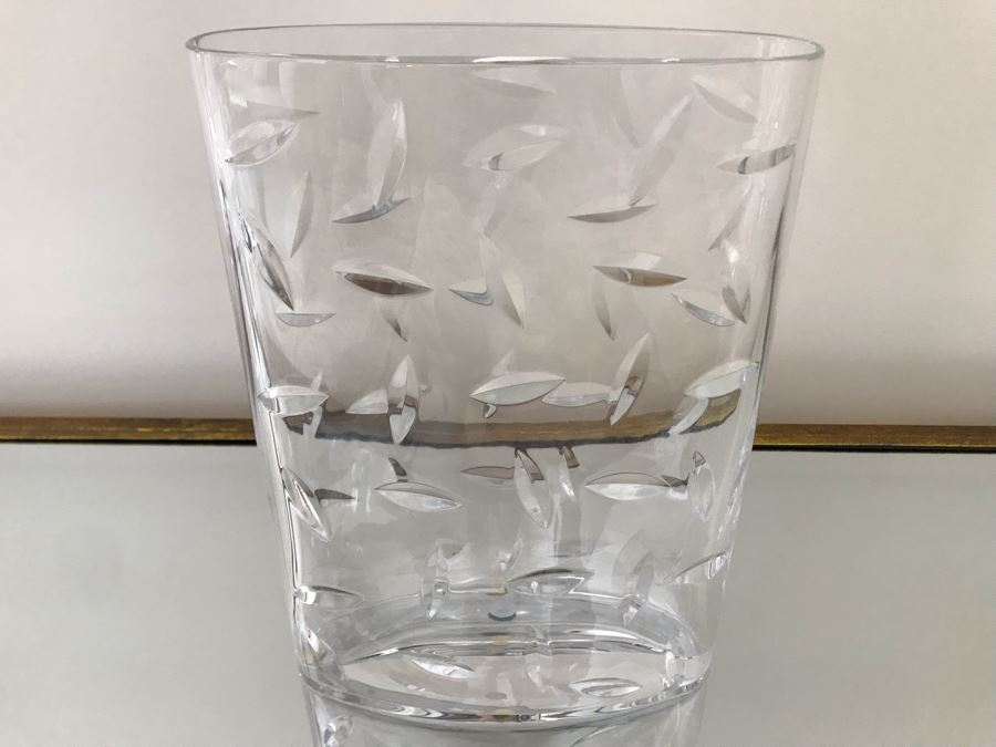 Tiffany & Co Large Heavy Crystal Vase Made In Italy 8W X 11H [Photo 1]