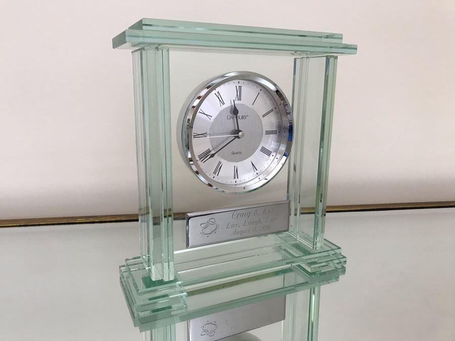 Danbury Glass Clock 9.5W X 3D X 10H [Photo 1]
