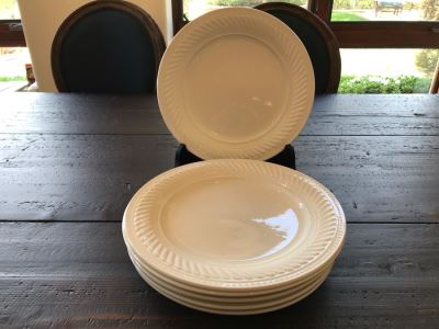 (6) White 12' Plates