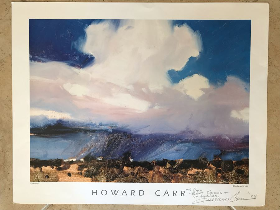 Hand Signed Howard Carr Poster Titled 'Go Around' 22.5 X 18 [Photo 1]