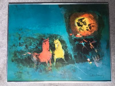 Hoi Lebadang (1922-2015) Limited Edition Lithograph Vietnam Artist 238 Of 260 - 27.5 X 21