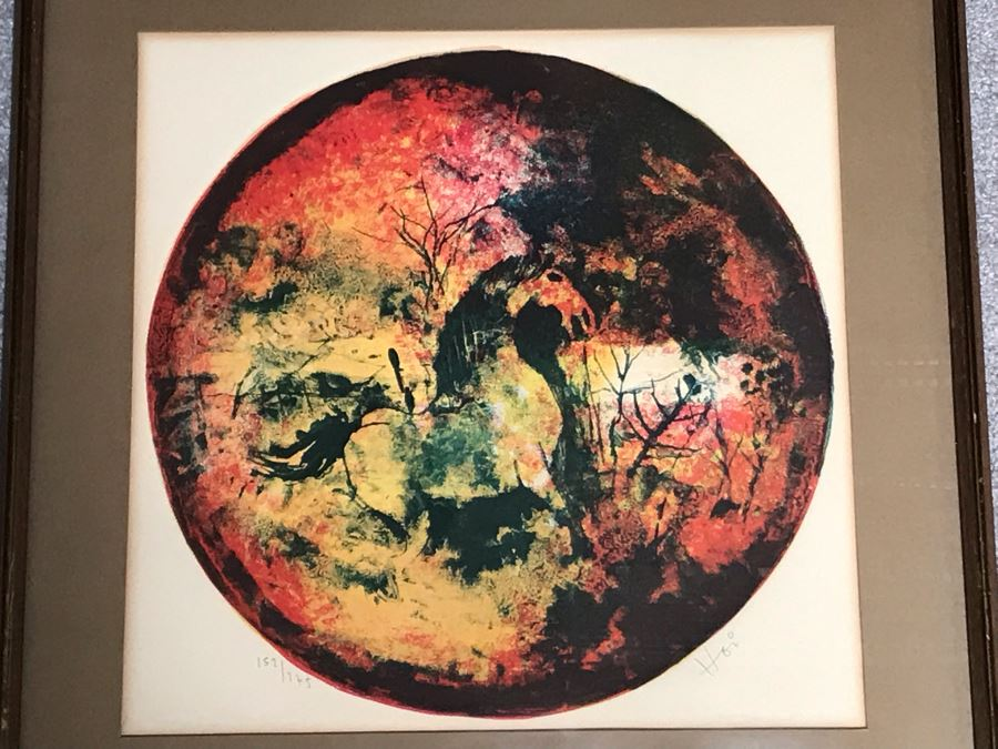 Hoi Lebadang (1922-2015) Limited Edition Lithograph Vietnam Artist 152 Of 275 - 16 X 15 [Photo 1]