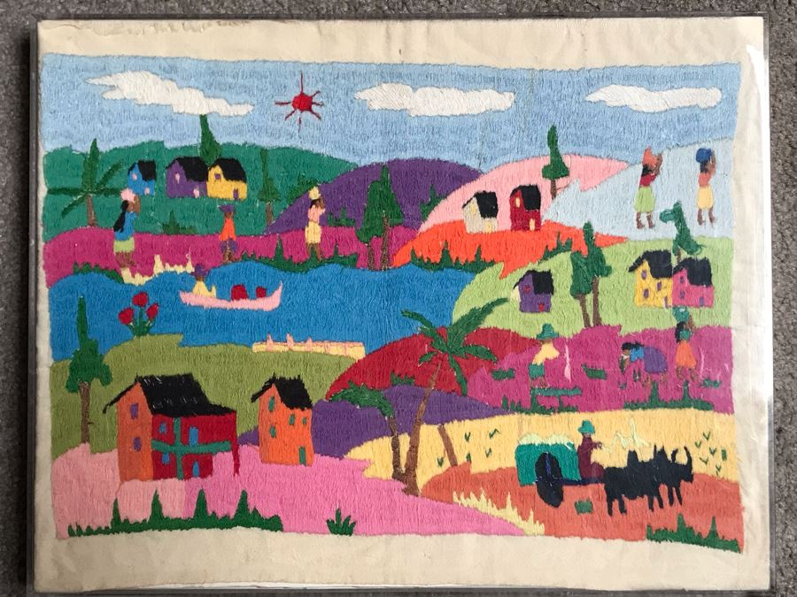 Central American Embroidery Artwork 14 X 11 [Photo 1]