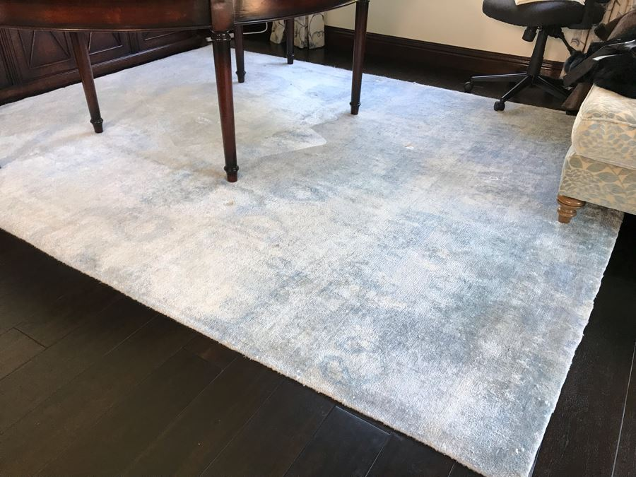 Wool Area Rug Bamboo SK IKAT 8'0' X 10'3' (Retails $3,000) [Photo 1]