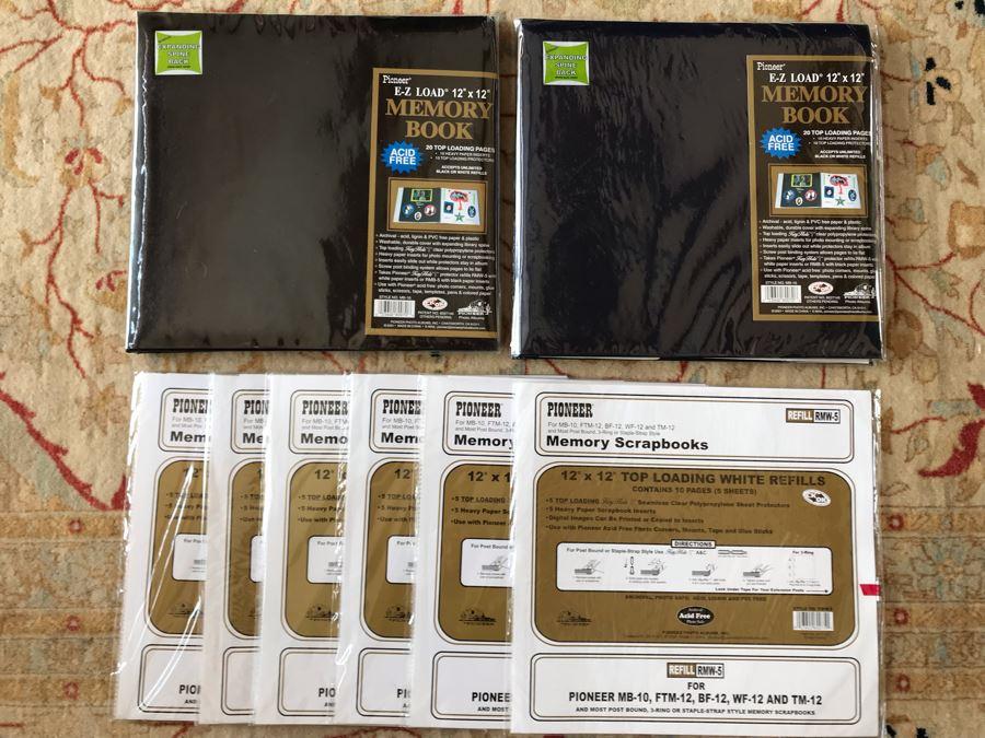 Pair Of New Memory Scrap Books With (6) New Memory Scrapbooks Refills 12 X 12 [Photo 1]