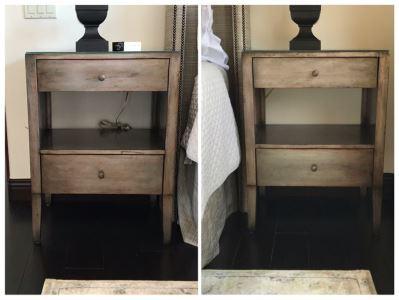 Pair Of Custom Wooden 2-Drawer Nightstands