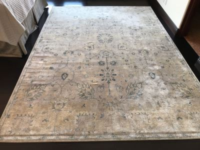 Loloi Nyla Collection 100% Viscose Area Rug Stone / Blue Made In Egypt 7'6' X 10'5' Retails $450