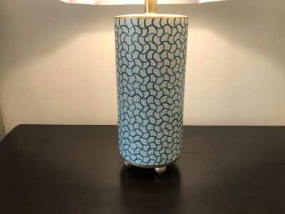 Pair Of Modern Painted Metal Chelsea House Table Lamps 30H Retails $570