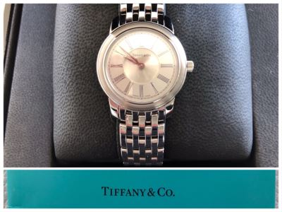 JUST ADDED - Tiffany & Co Stainless Steel Water Resistant Women's Watch With Box Like New