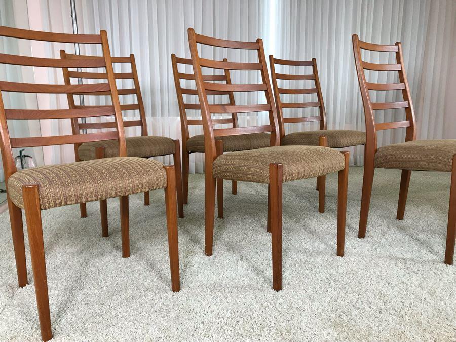 Set Of Six Teak Danish Modern Dining Chairs [Photo 1]