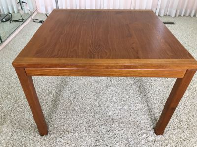 Danish Modern Teak Side Table 27.5W X 27.5D X 20H