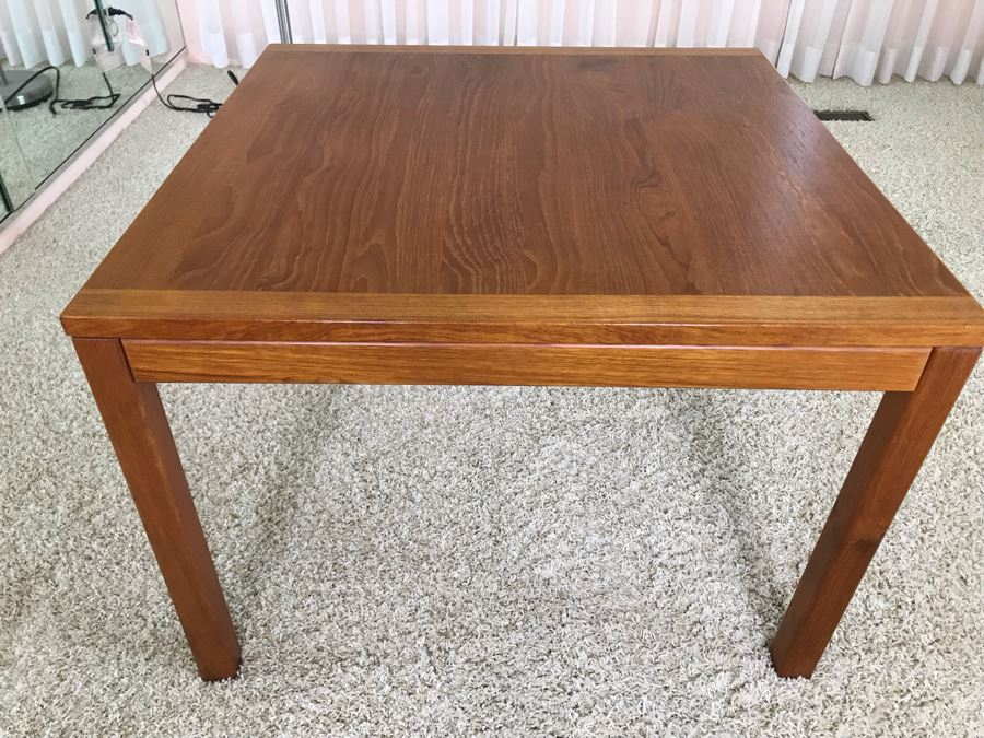 Danish Modern Teak Side Table 27.5W X 27.5D X 20H [Photo 1]