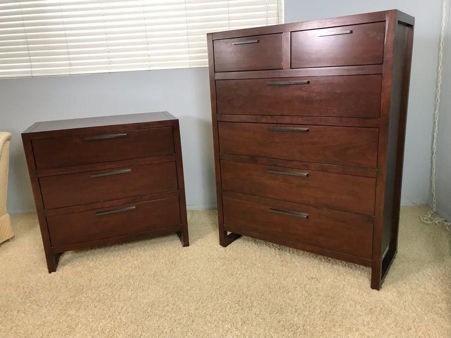 Pair Of Modern Dressers 3-Drawer Dresser And 6-Drawer Dresser By Casana [Photo 1]