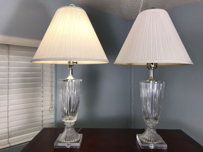 Pair Of Lucite Table Lamps 32H