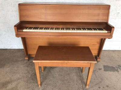 Melodigrand Upright Piano With Bench (Sounds Great / Well Maintained / Small Space)