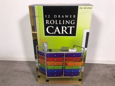 New 12 Drawer Rolling Cart
