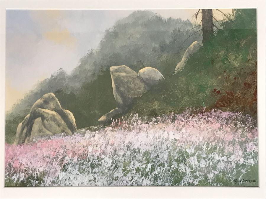 Original Miguel Dominguez Fine Art Watercolor Painting Titled 'Summer Color' Carmel, CA Landscape Painting 14 X 10 [Photo 1]
