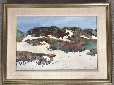 Original Carolyn Marie Lord Fine Art Framed Watercolor Painting From Carmel, CA 22 X 15
