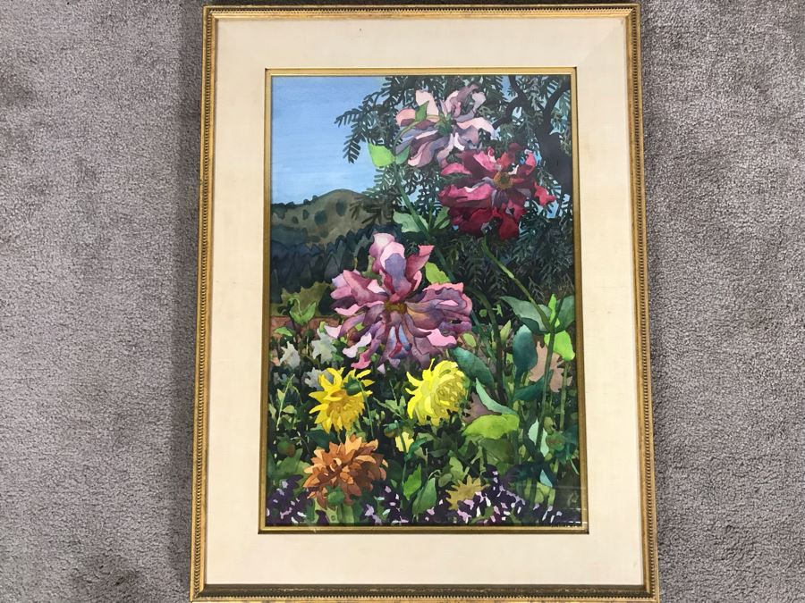 Carolyn Marie Lord Fine Art Framed Watercolor Painting From Fireside Gallery Of Carmel, CA 15.5 X 22.5 [Photo 1]