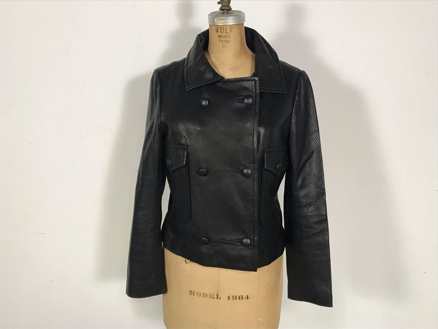 Geren Ford Leather Jacket With Silk Lining Size M [Photo 1]