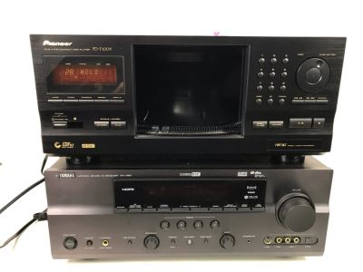 YAMAHA Natural Sound AV Receiver RX-V661 And Pioneer PD-F1009 File-Type Compact Disc Player