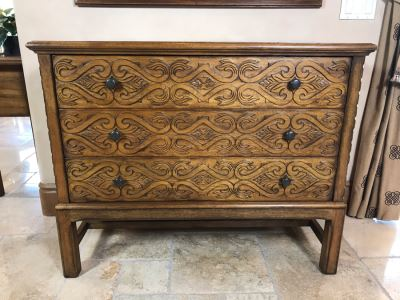 Stunning Century Furniture Madera Filigree 3-Drawer Chest Of Drawers Dresser 44W X 20D X 36.5H Retails $3,960