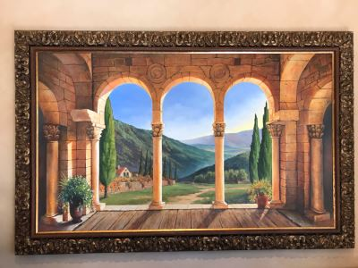 Original Carol Krick Fine Art Oil Painting On Canvas Titled 'Belvedere Glow' In Stunning Frame 60 X 36 Appraised At $15,000