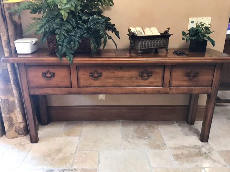 Century Furniture Huntboard 3-Drawer Long Chest 6'W X 18D X 32H Retails $2,770 [Photo 1]