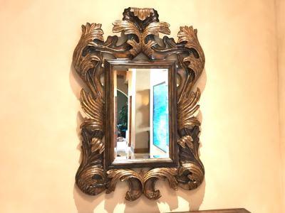 Marge Carson Designer Large 5'H Umbria Mirror Gilded Beveled Glass 42W X 4D X 60H Retails $3,760