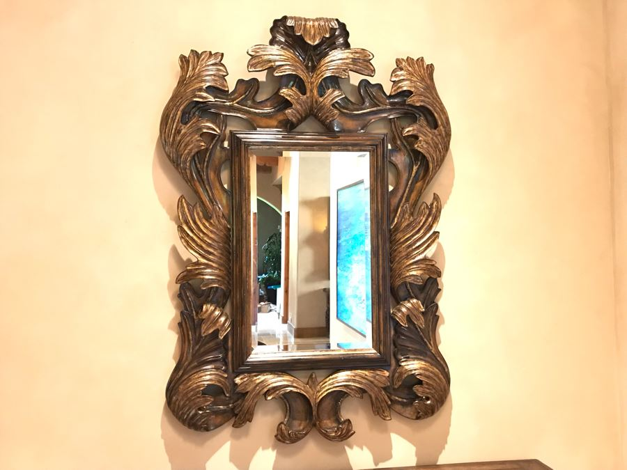 Marge Carson Designer Large 5'H Umbria Mirror Gilded Beveled Glass 42W X 4D X 60H Retails $3,760 [Photo 1]