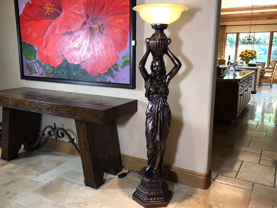 Young Maiden Torchiere Floor Lamp By Pacific Coast Lighting [Photo 1]