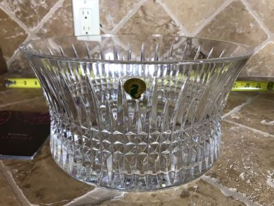 New Waterford Crystal Lisomore Diamond 10in Lead Crystal Bowl With Original Tags Retails $350